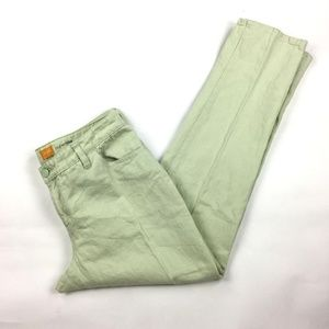 Anthropologie Womens 30 Pastel Green Chino Pants